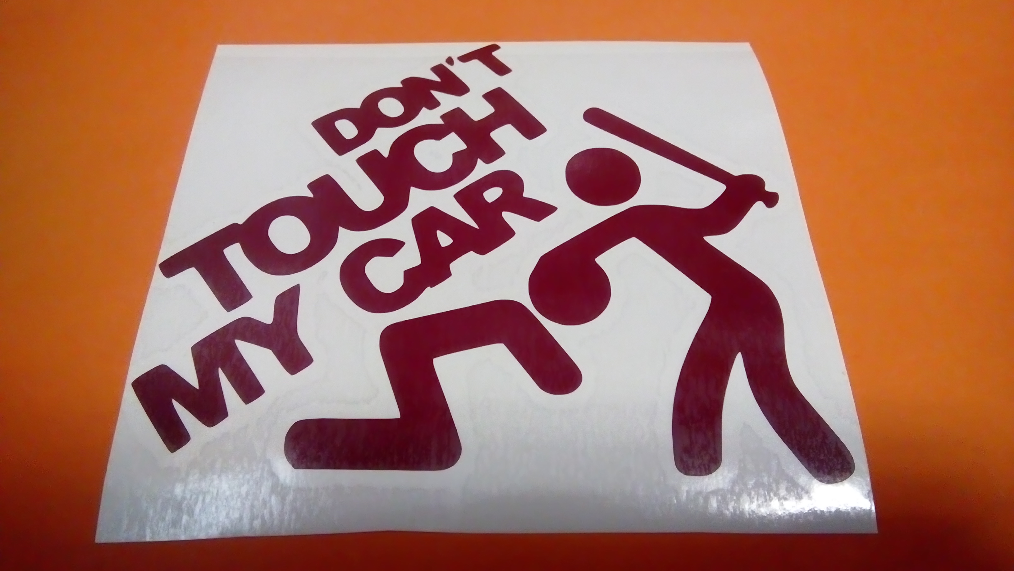 dont touch my car hnědá    15cm
