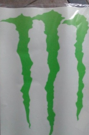 monster energy světlý 47 x 34 cm