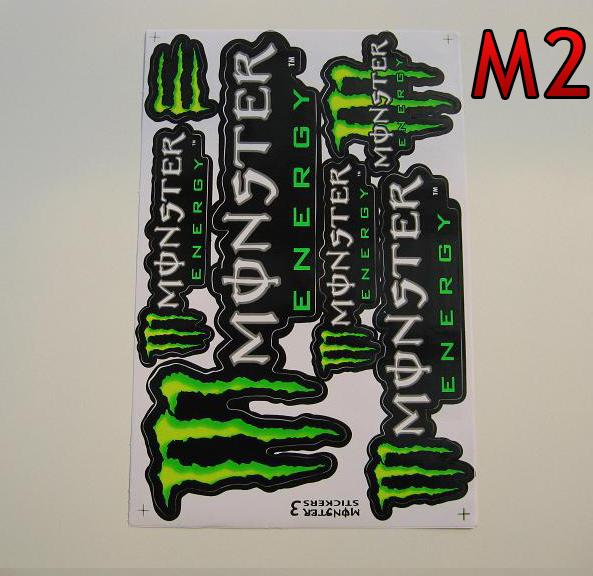 Monster Energy M2  arch 27x18cm