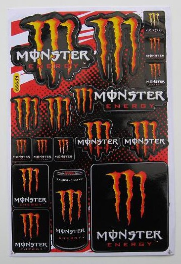 Monster Energy M12 arch 27x18cm