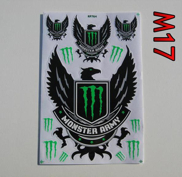 Monster Energy M17 arch 27x18cm