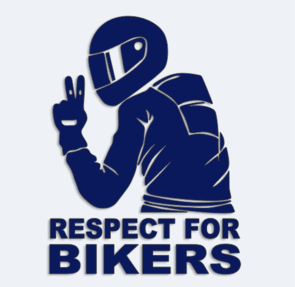 samolepka respect for bikers cca  cm