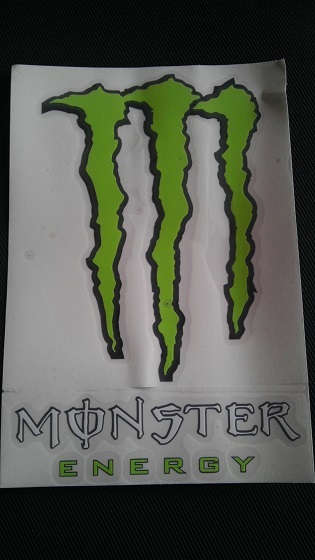 Monster energy znak + nápis 21cm